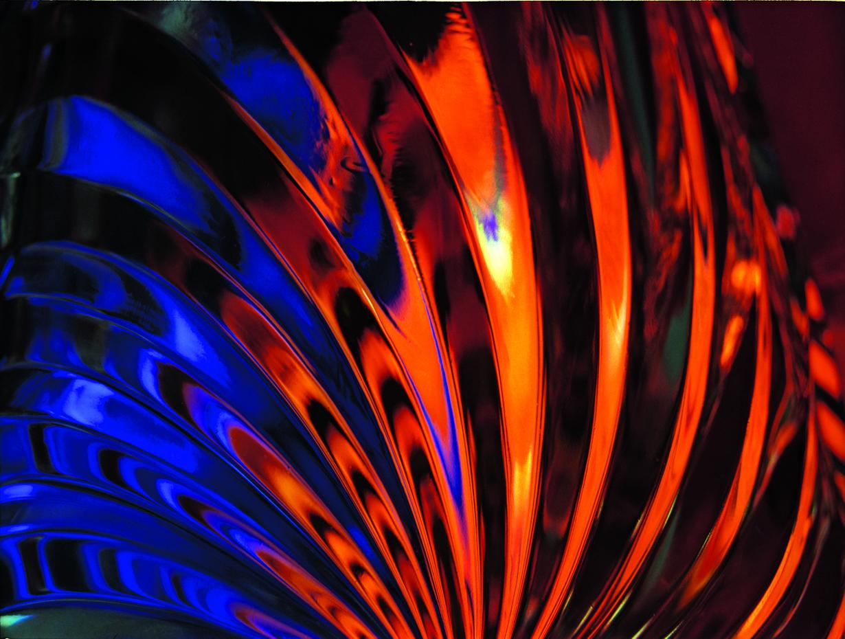 A colorful abstract-looking photo titled Fire and Water