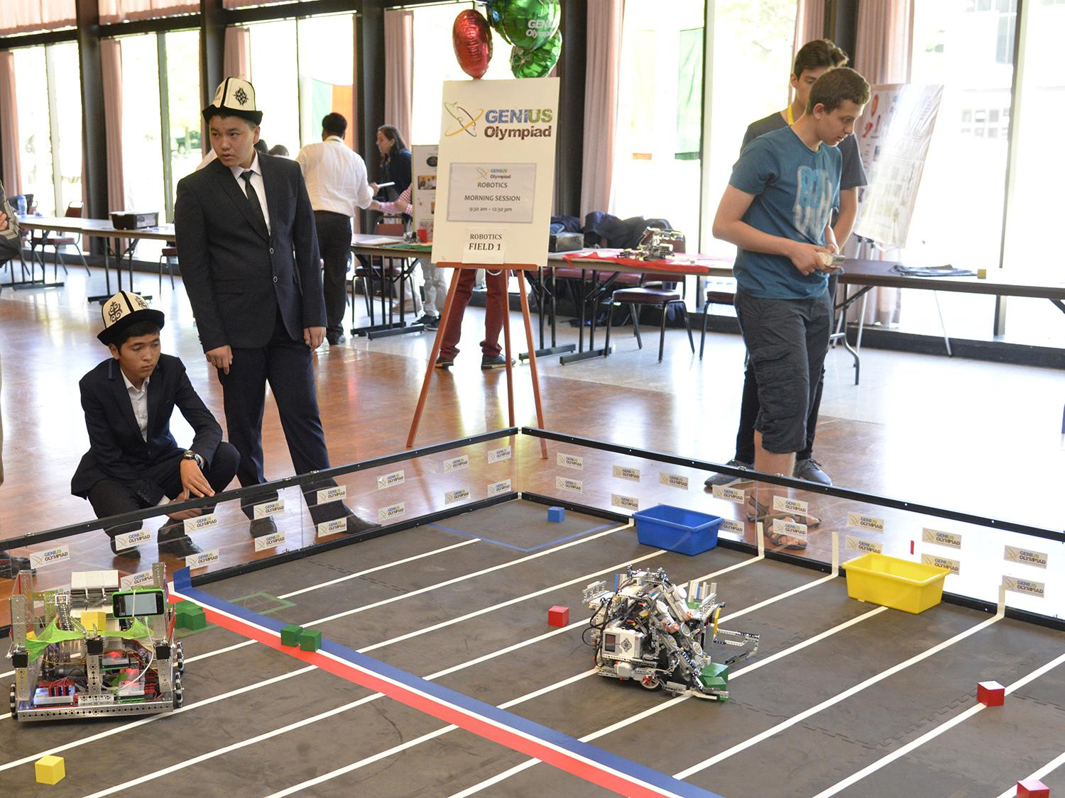 Students take part in robotics competition