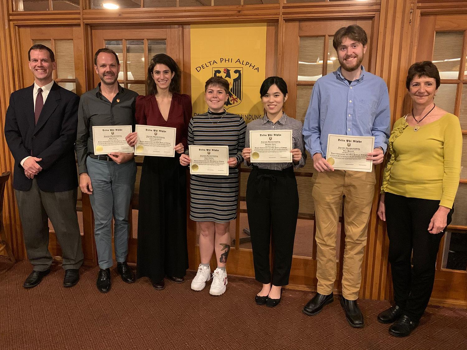 Students, employees honored by German honor society