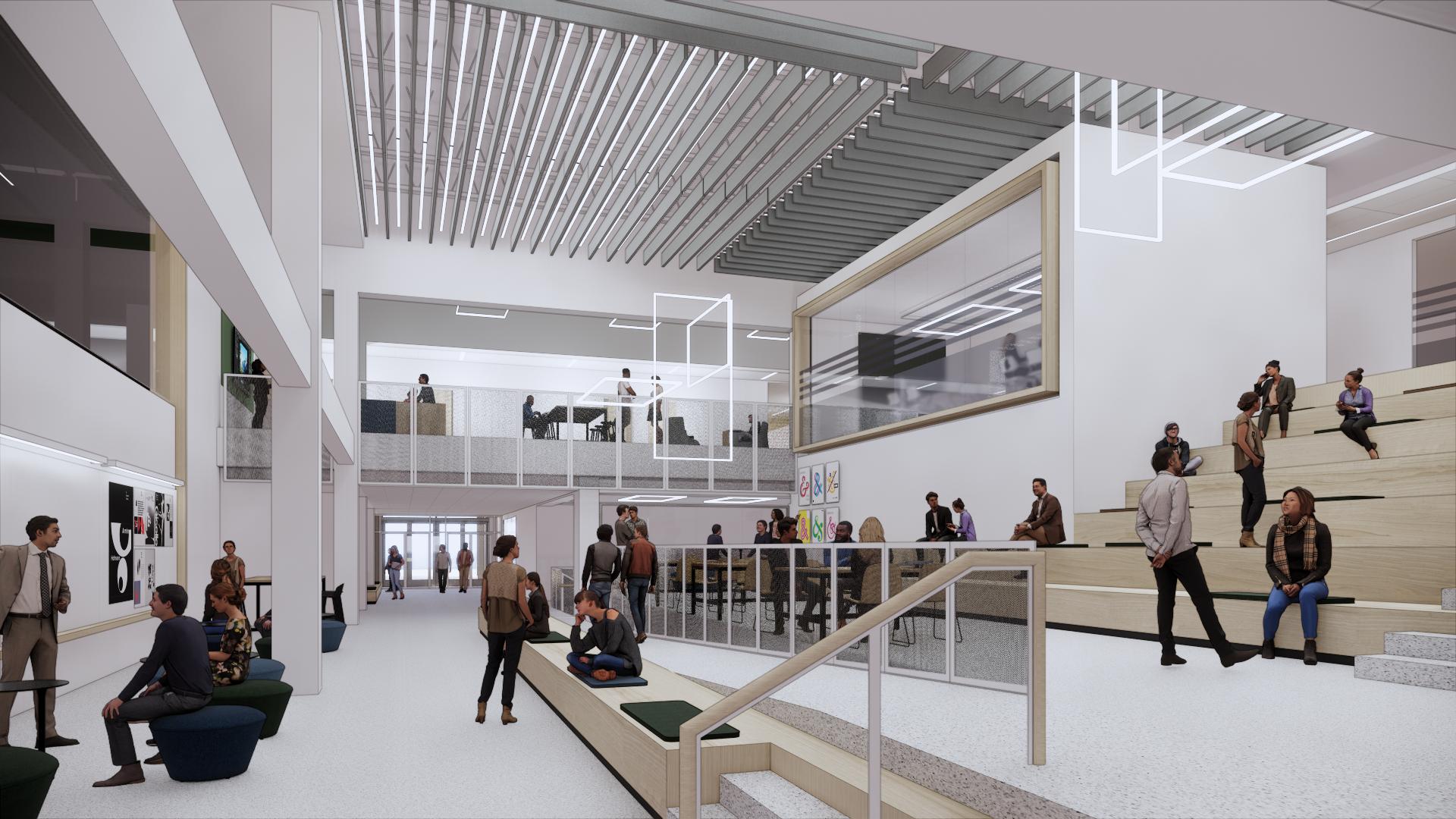 Interior Rendering of the future Hewitt Hall at SUNY Oswego