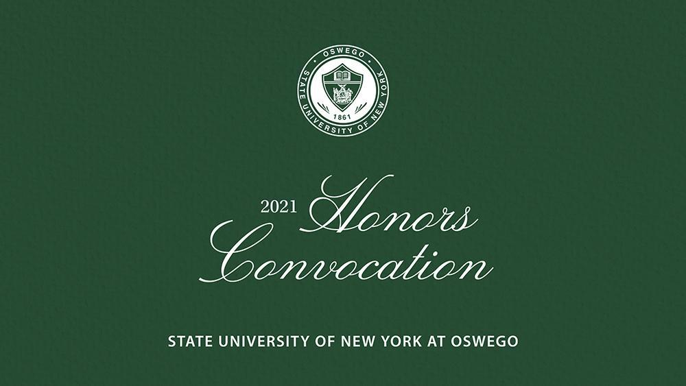 Honors Convocation SUNY Oswego logo with college seal
