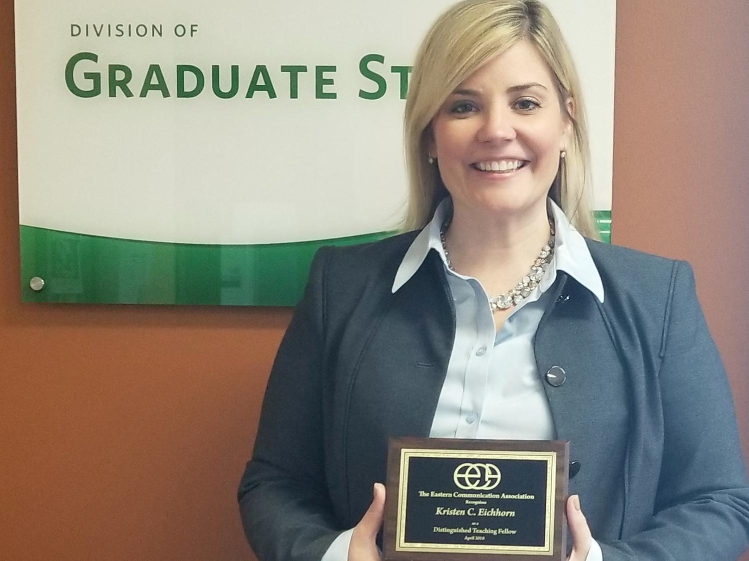 Kristen Eichhorn earns a distinguished teaching award from a top organization