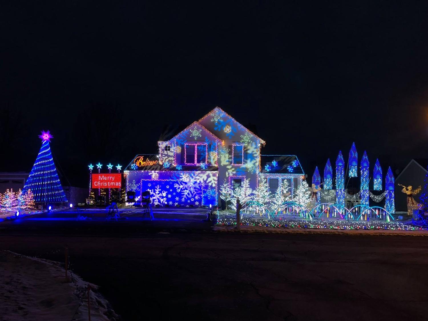 Elaborate holiday light show