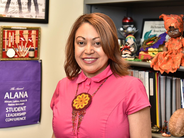 Maggie Rivera, the college's coordinator of student involvement