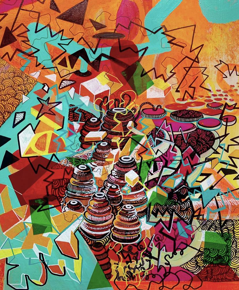 Outburst, an abstract painting by Shea McCarthy