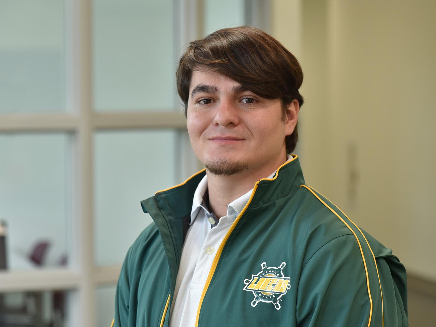 Cesar Figueroa is pursuing his dreams by attending Oswego as a nontraditional student
