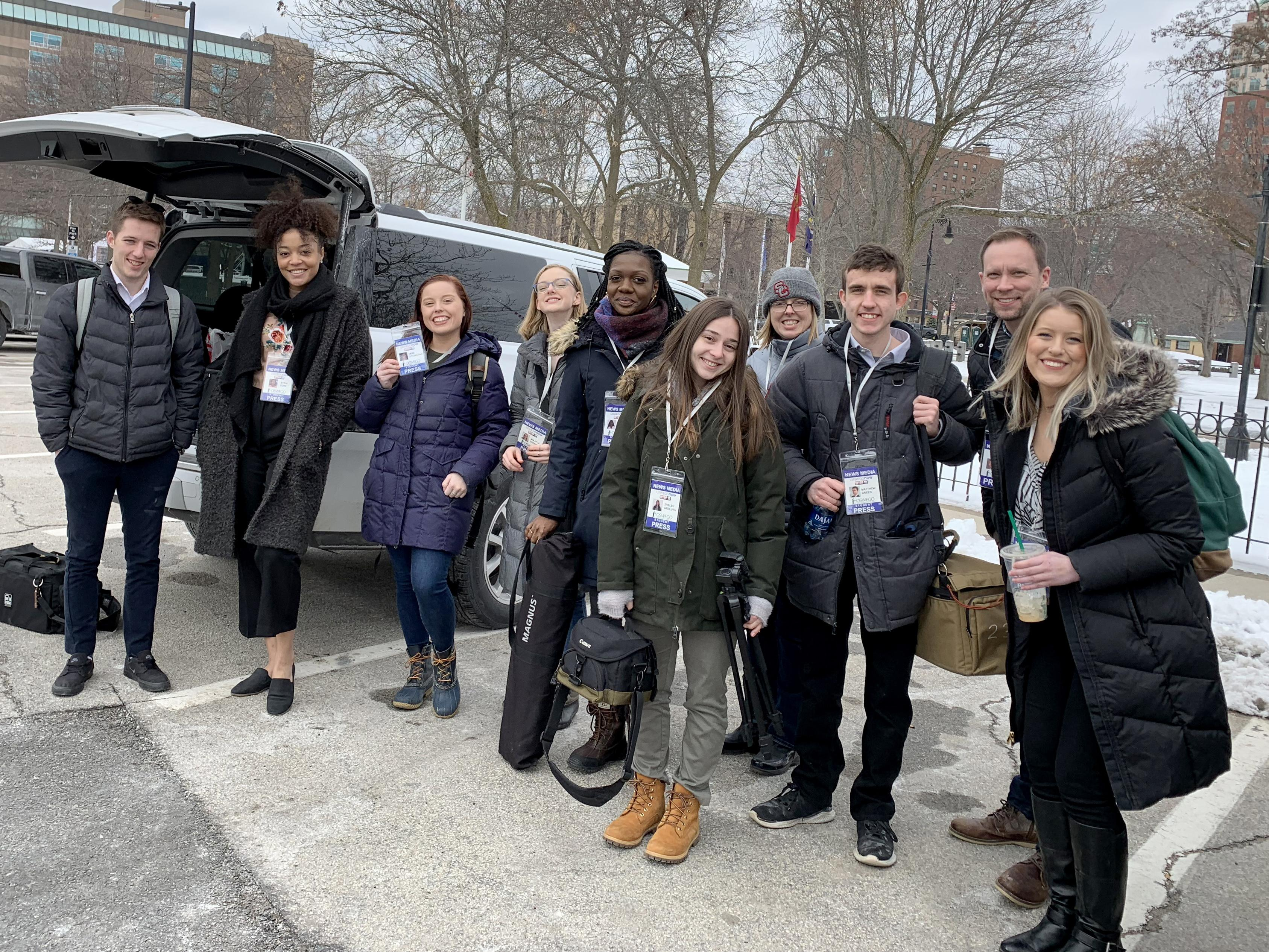 Broadcasting students traveled to New Hampshire to cover the presidential primary