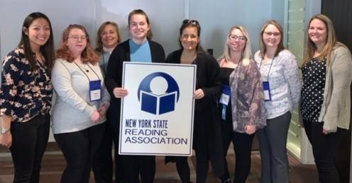 SUNY Oswego attendees of New York State Reading Association conference