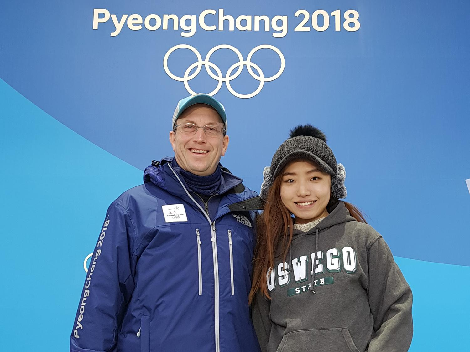 Derrick Salisbury and Nicky GaWon Kim represent an Oswego connection at the 2018 Winter Olympics