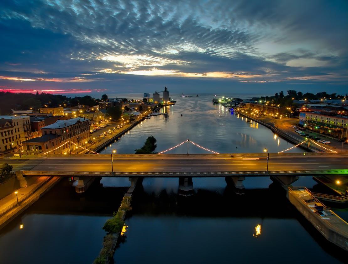Oswego River inlet to Lake Ontario
