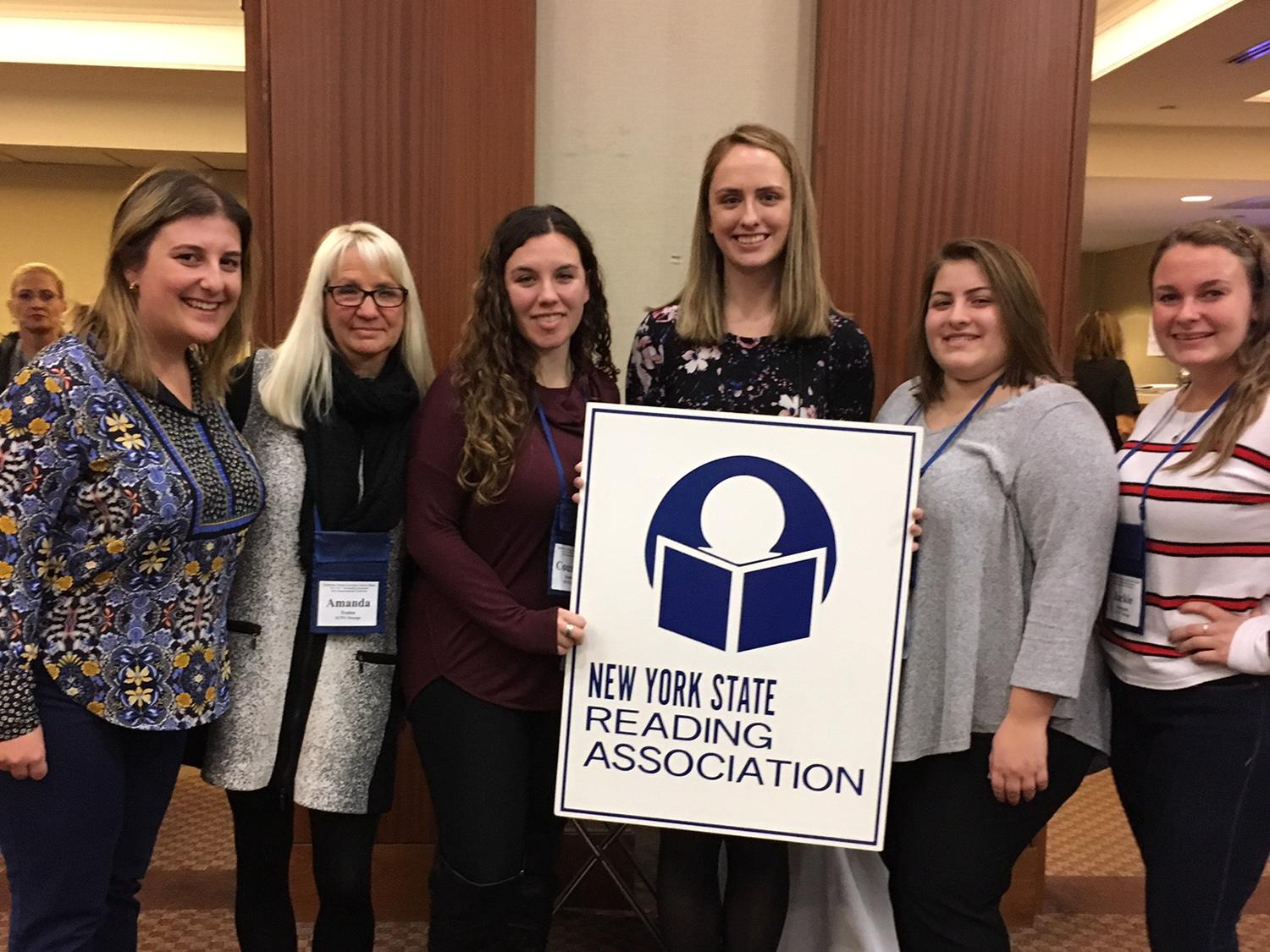 Students and faculty who presented at the New York State Reading Association Conference