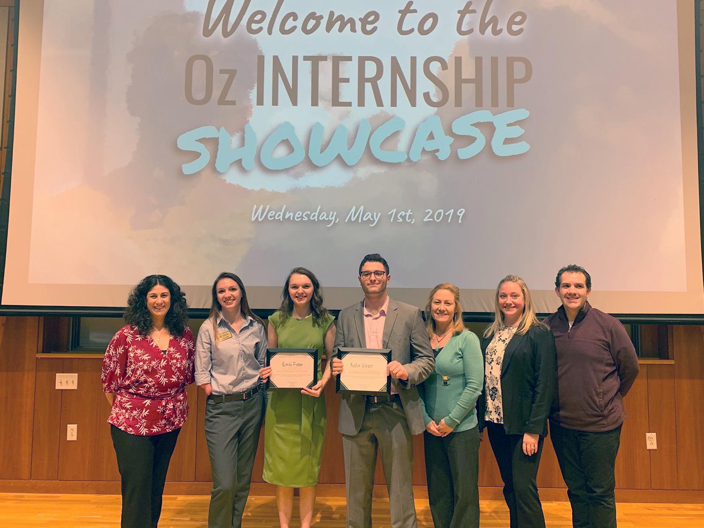 Students and staff sponsors of Oz Internship Showcase