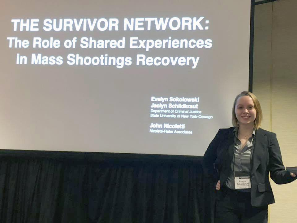 Evelyn Sokolowski co-presented The Survivor Network: The Role of Shared Experience in Mass Shootings Recovery