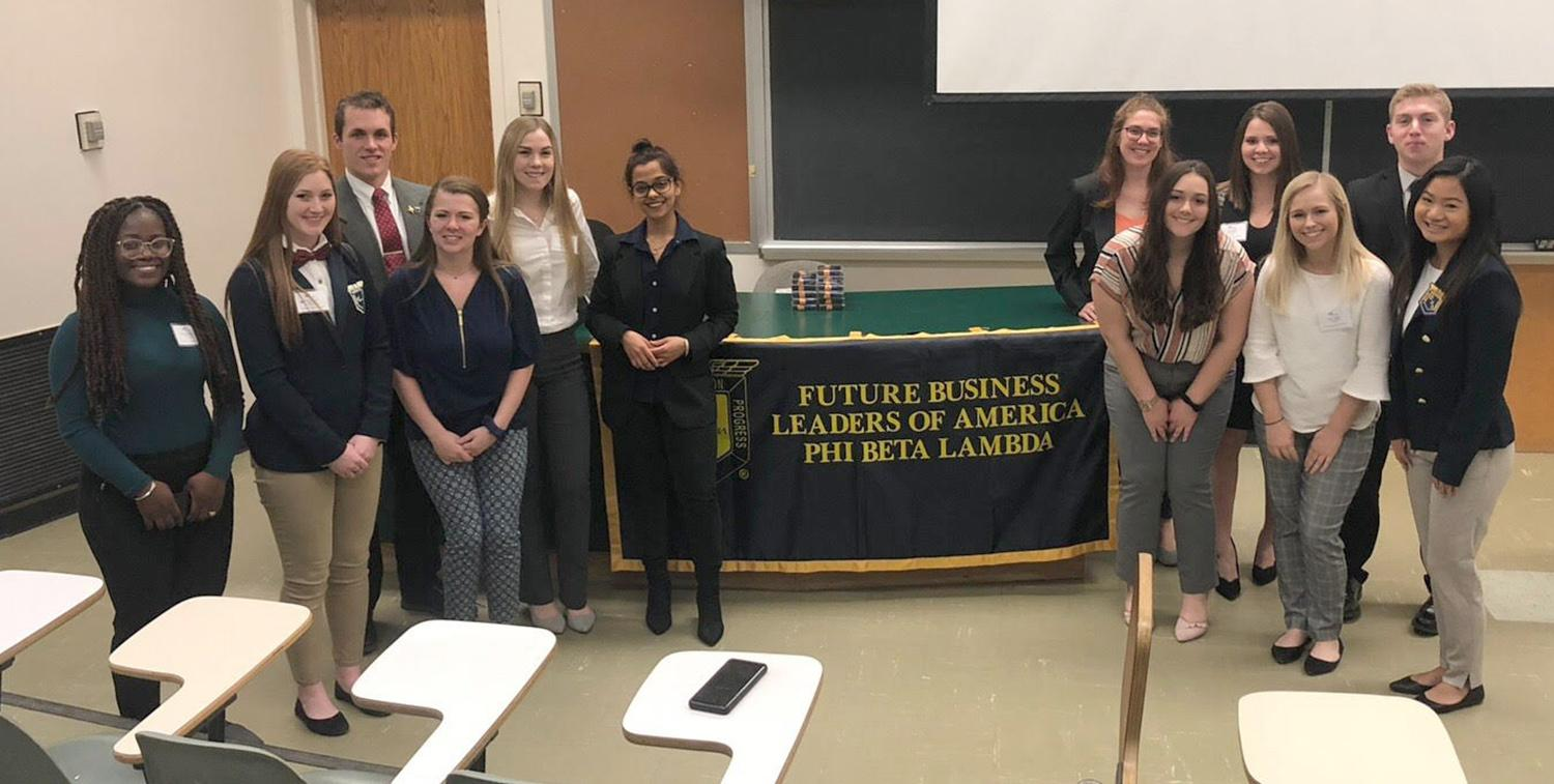 Phi Beta Lambda students in business competition