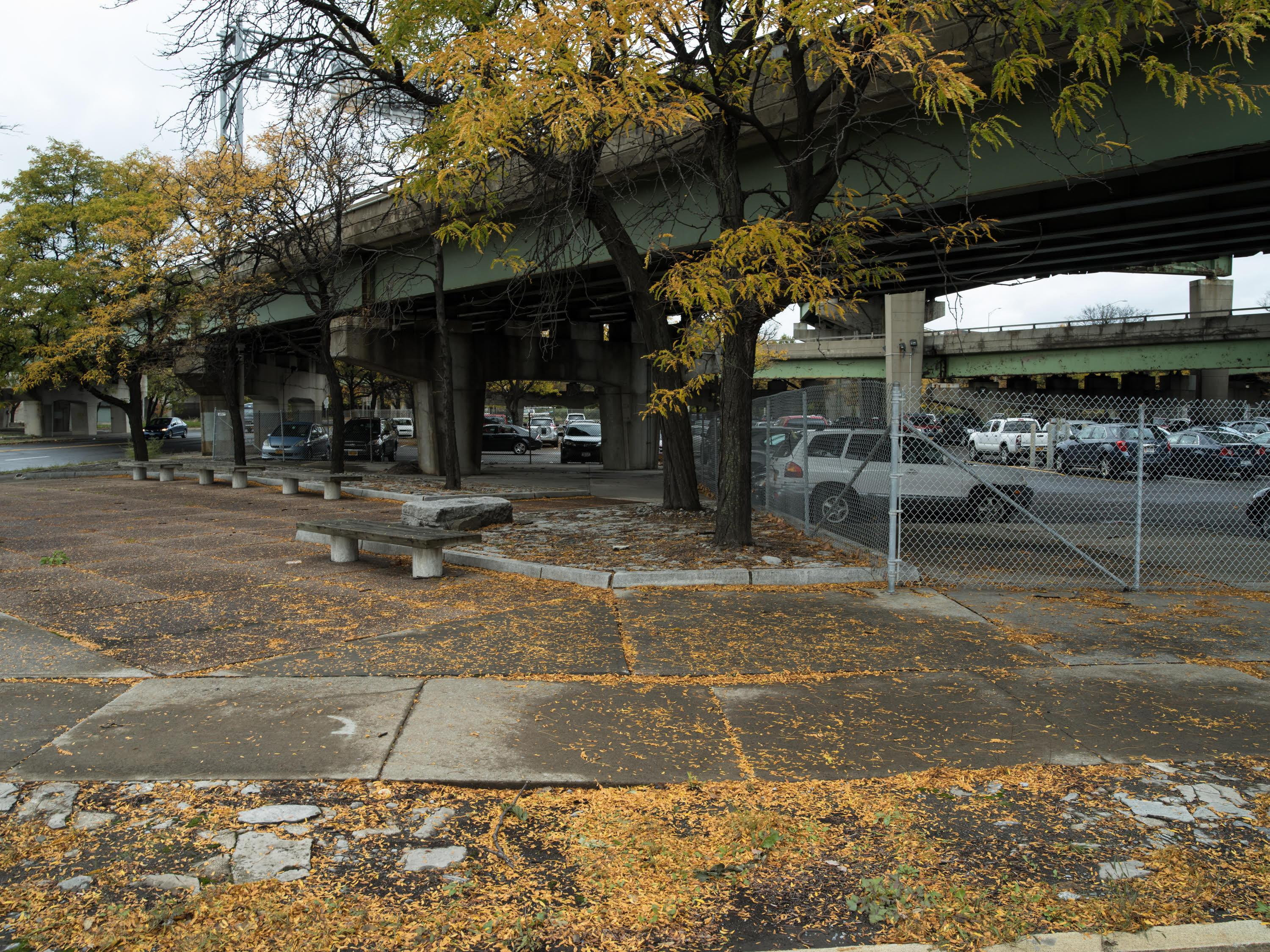 Small park under Route 81 bridge