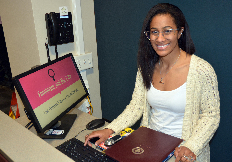 Tahirah Abdo prepares her Quest presentation