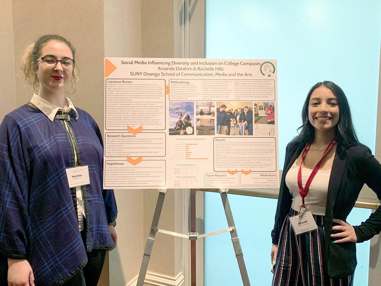 Rachelle Hills and Amanda Amanda Ebrahim present social media and diversity research