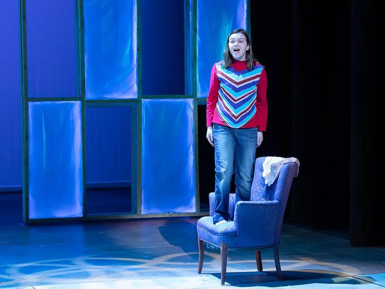 Rachel Leotta performs on campus production of Fun Home