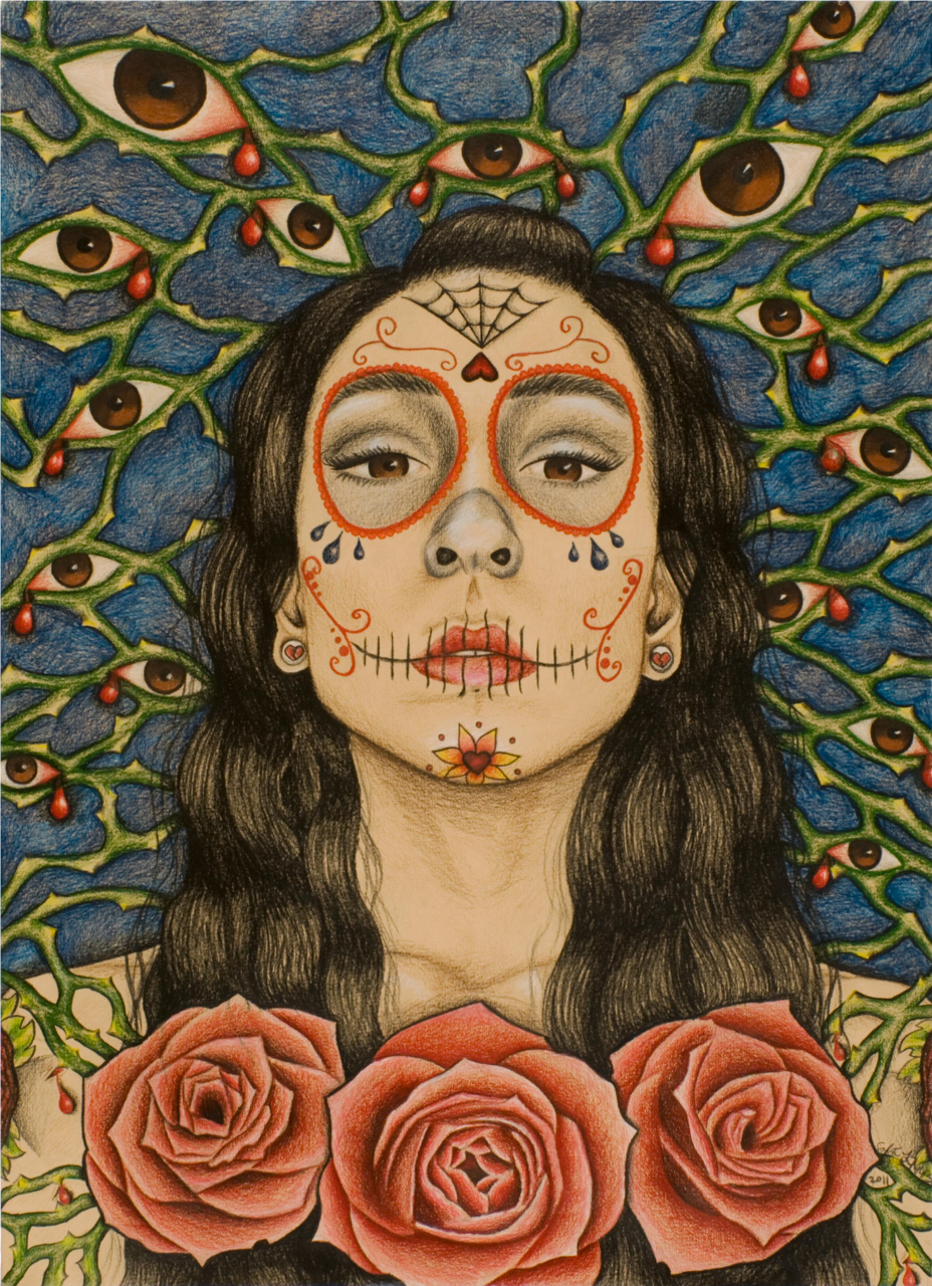 Sugar skull artwork submitted by student Sofia Perez