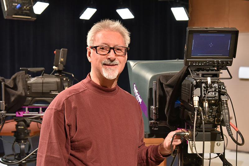 Patrick Moochler in a TV studio