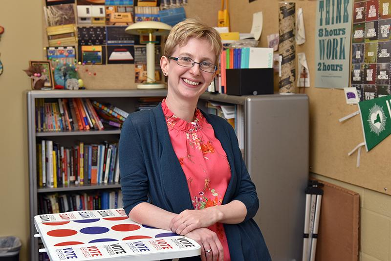Rebecca Mushtare's passions include teaching art, learning about education and encouraging accessibility