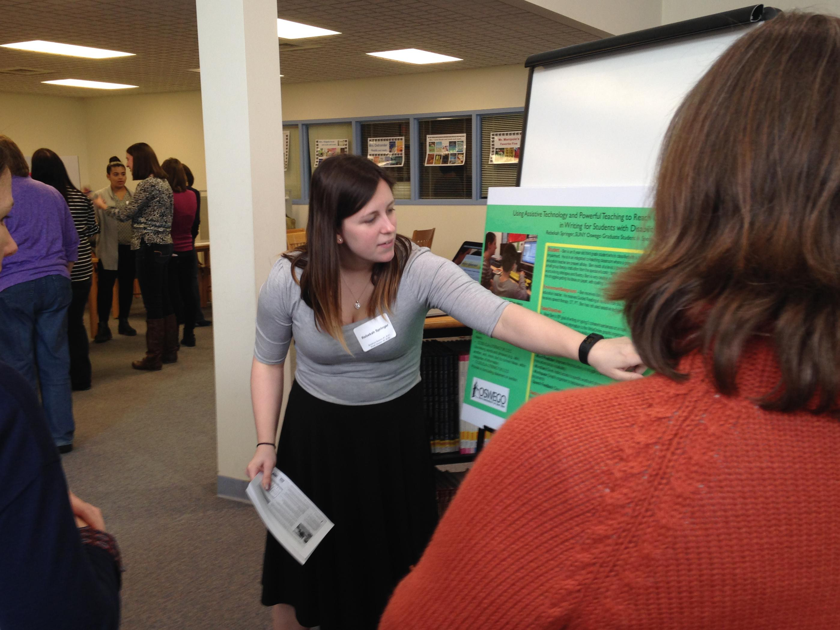 Rebekah Springer presenting