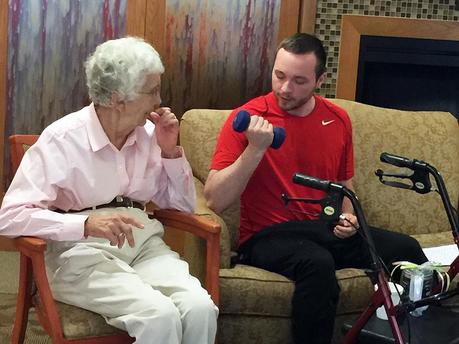 Oswego students work with senior citizens to reaffirm healthy lifestyles