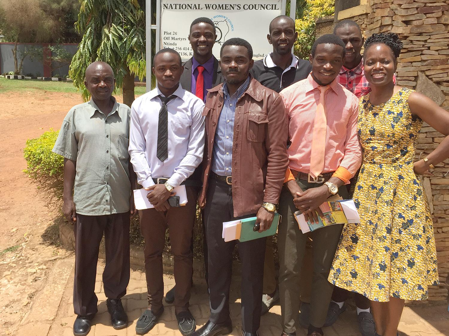 Barbara Streets with other conference participants in Uganda