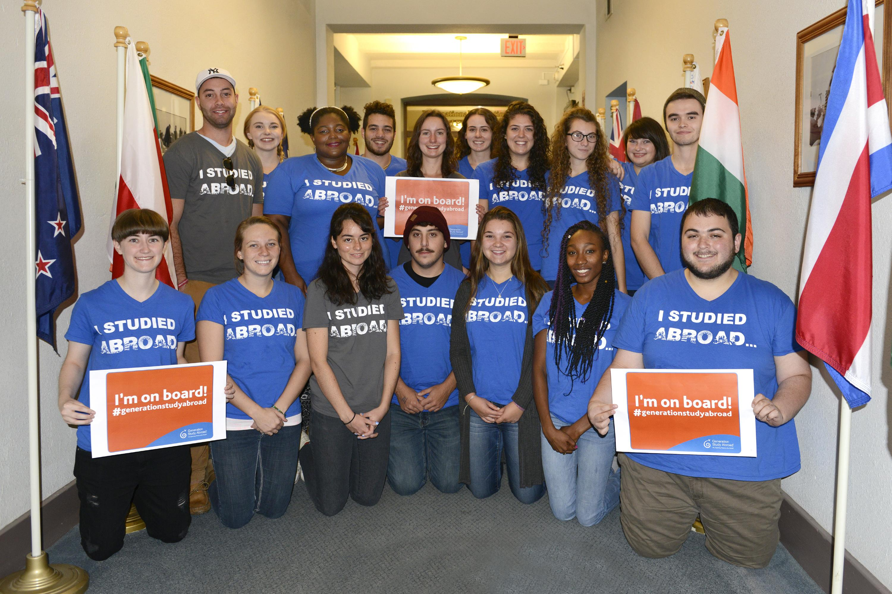 Student mentors working to raise awareness about study-travel opportunities celebrate success