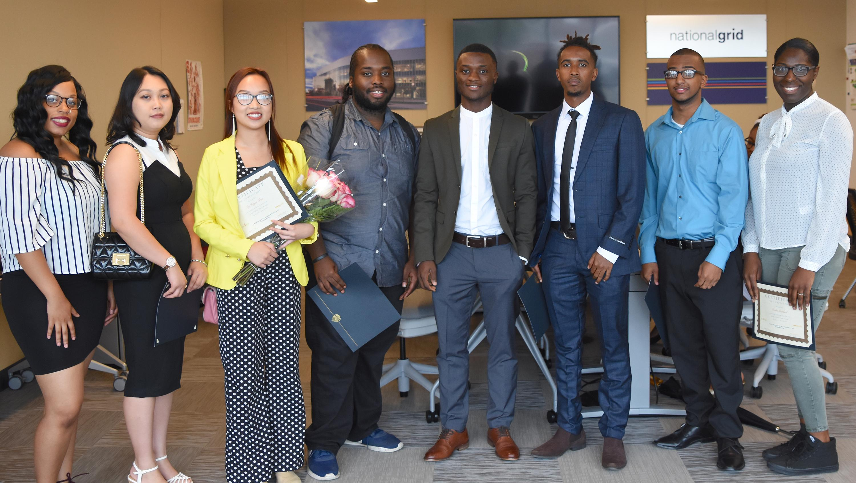 Say Yes students taking part in Synergy internships