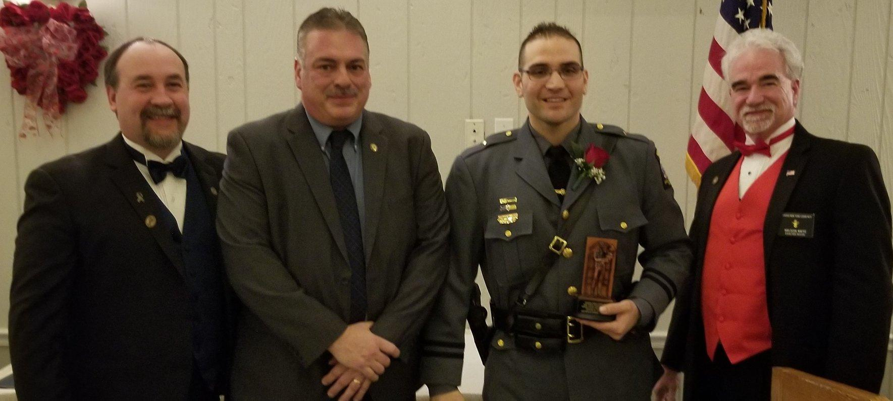 Oswego Elks award Lt. Robert Vaccarelli University Police Officer of the Year award