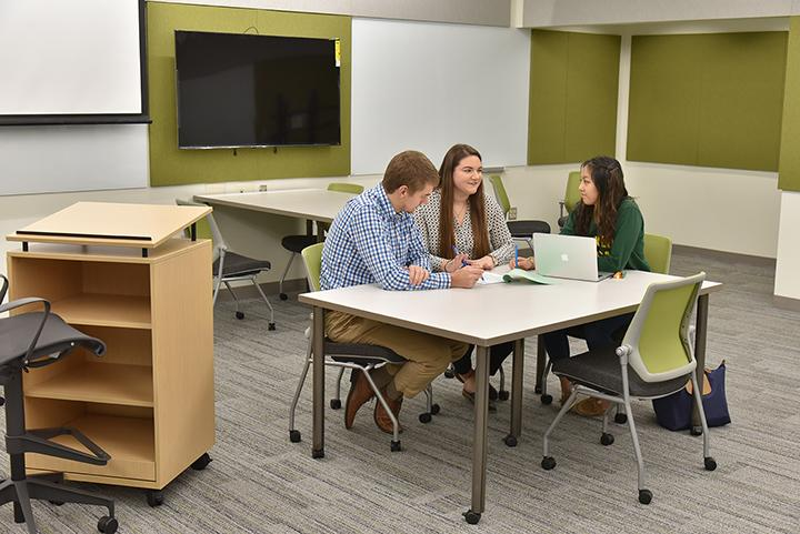 New classroom in fully renovated Wilber Hall
