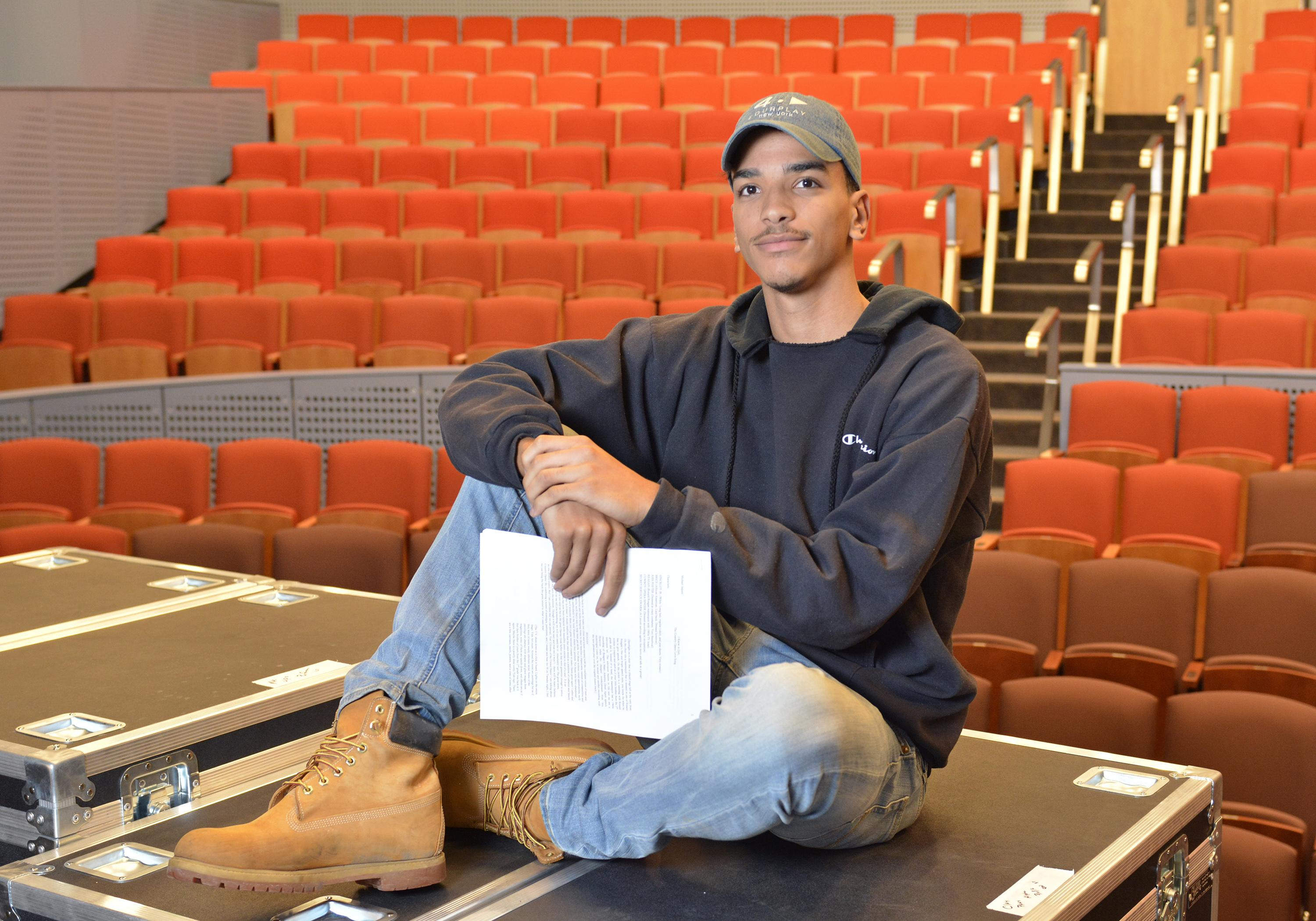 Student playwright Michael Jaquez