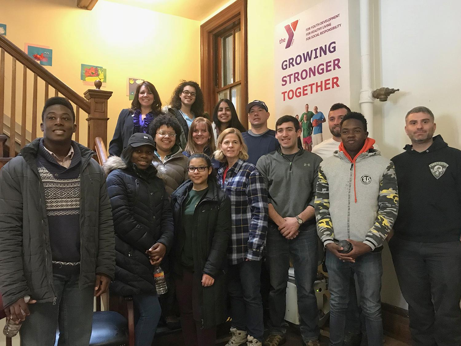 Students team with Exelon to help Oswego YMCA