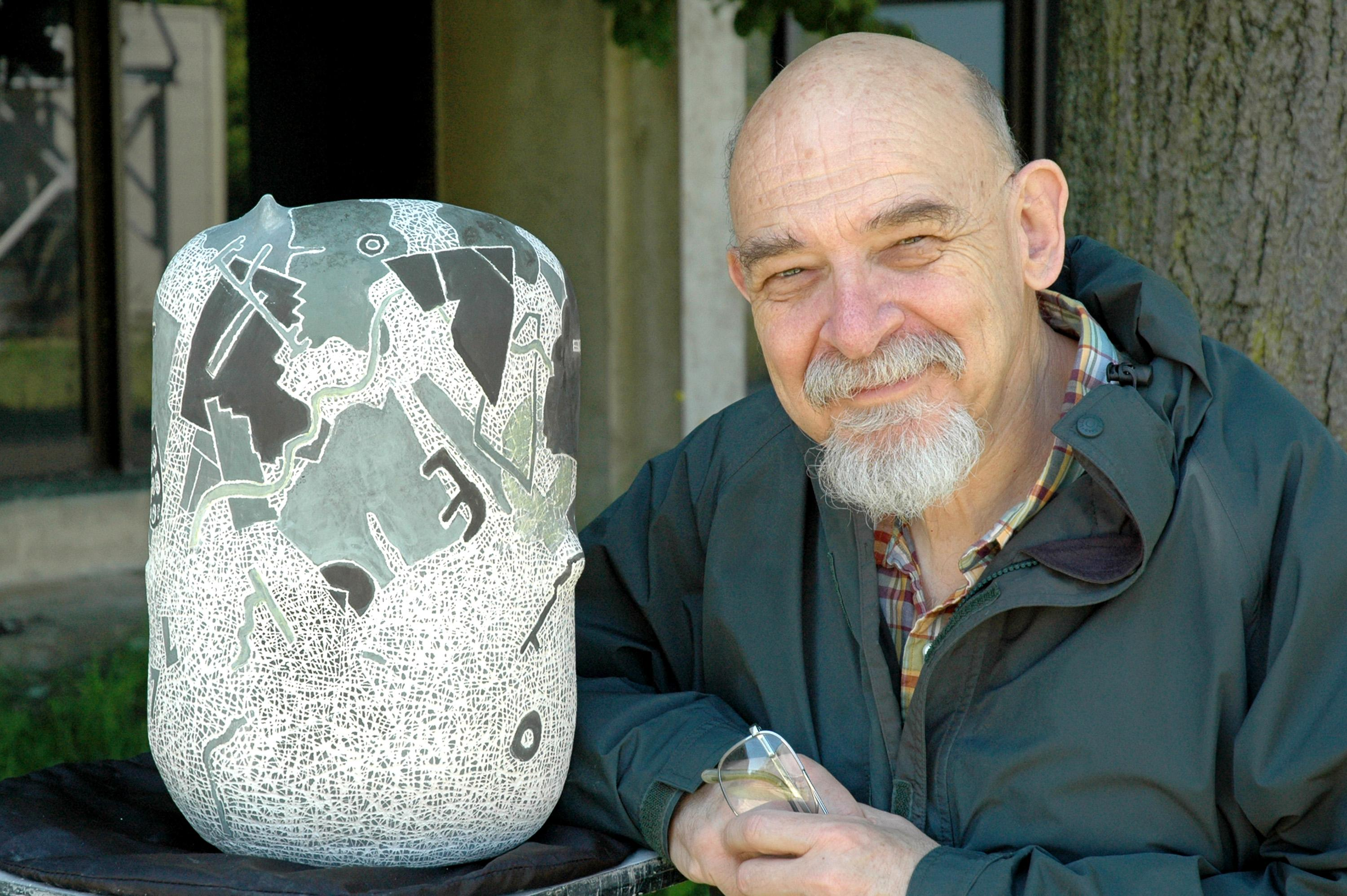 The late Richard Zakin, a longtime art professor and noted ceramicist