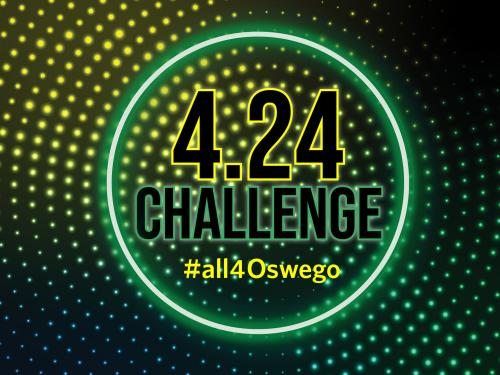 Logo reading 4.24 challenge, #all4oswego