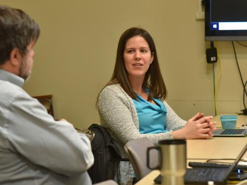 Faculty discuss advanced teaching techniques and goals