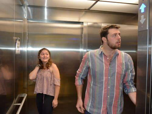 Michaela Buckley and Sean Ryan's new play takes place in an elevator