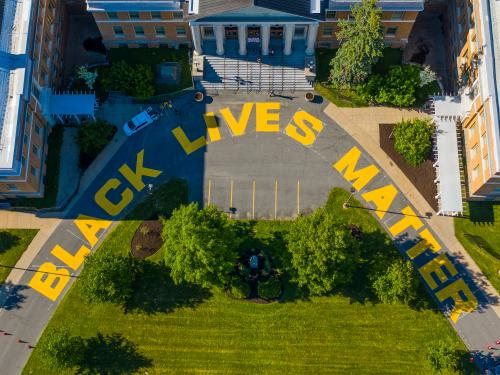 Black Lives Matter mural at Sheldon Hall