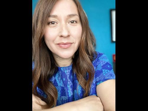 Claudia D. Hernandez, author of Oswego Reading Initiative Selection, Knitting the Fog