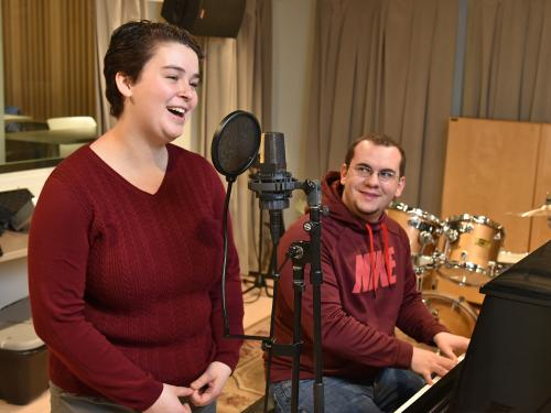 Music students warm up for upcoming scholarship concert
