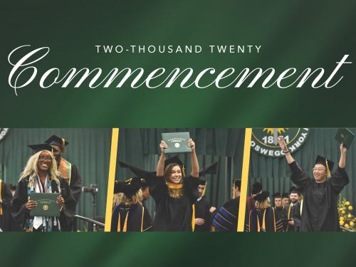 Students celebrating at previous Commencement