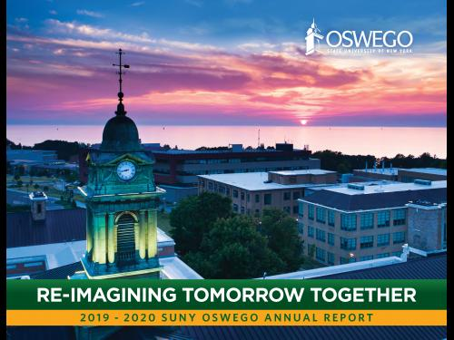 SUNY Oswego Annual Report cover