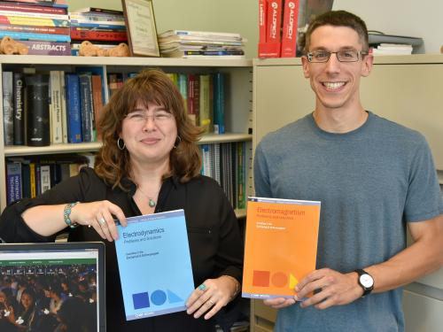 Carolina Ilie and Zachariah Schrecengost recently co-authored their second physics textbook