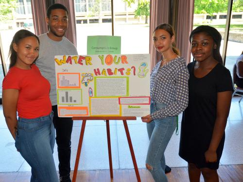 EOP students present solutions to Fresh Water for All related projects
