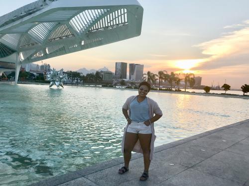 Noami Rodriguez Jose visiting the Museum of Tomorrow in Rio de Janeiro
