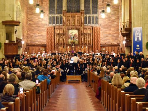 College, community musical groups perform in previous holiday concert