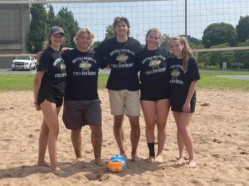 The team called Participants won the recent beach volleyball tournament