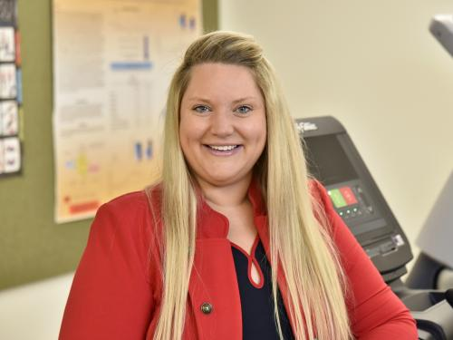 Health promotion and wellness faculty member Jessica Harris earned this year's President's Award for Teaching Excellence
