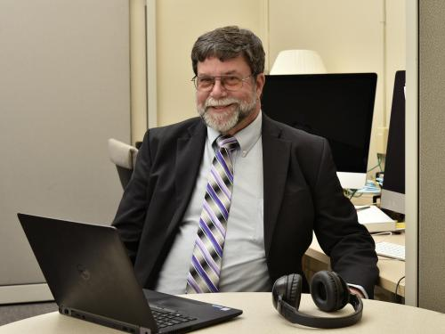 John Kane in the Center for Excellence in Learning and Teaching